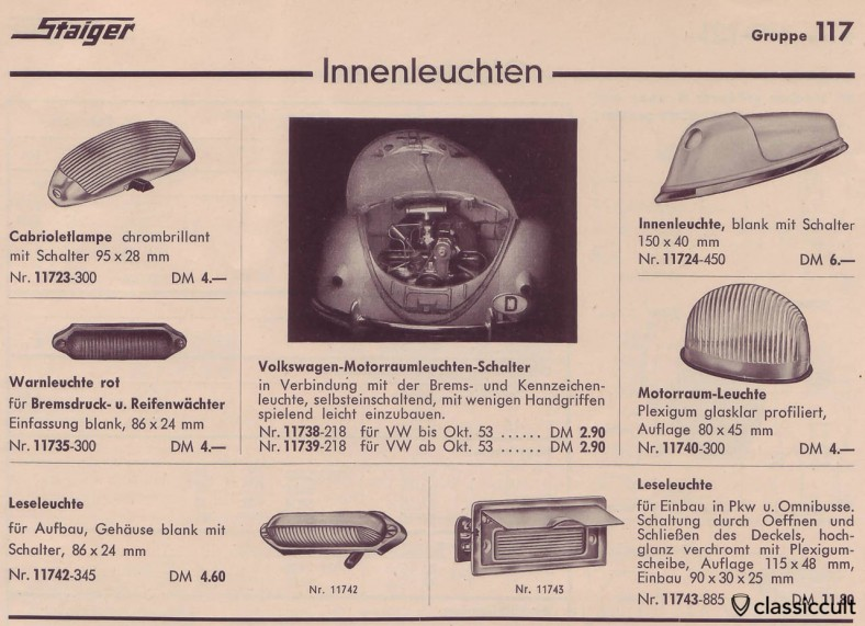 VW Oval engine compartment light