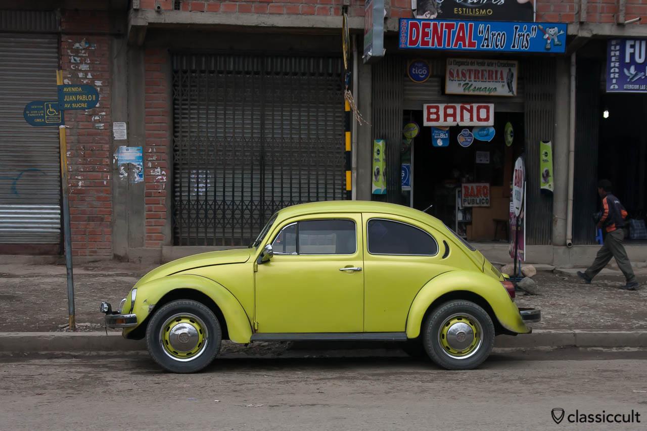 VW Peta Beetle Tiahuanaco, Bolivia, May 18, 2013