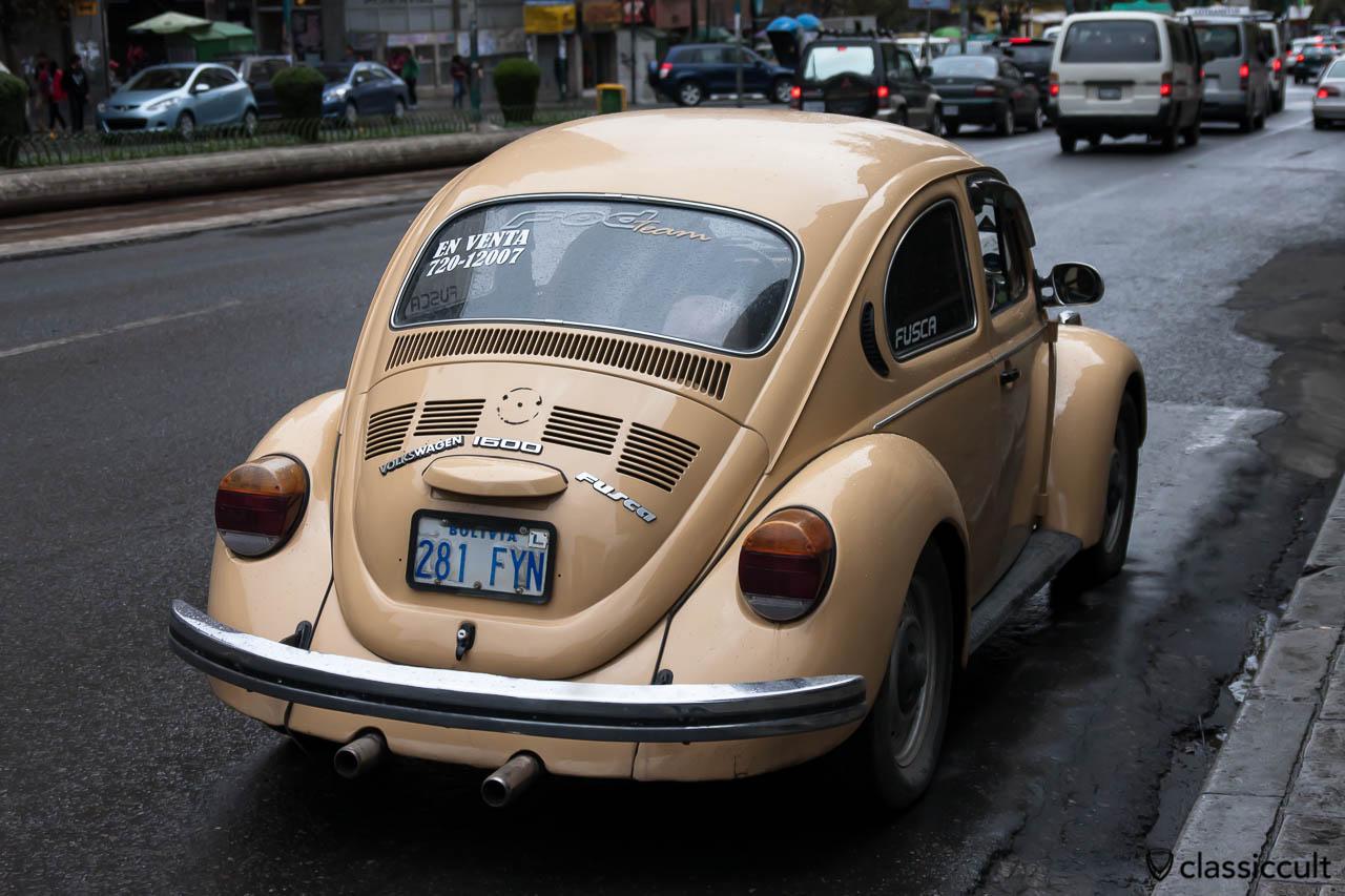 VW Peta Fusca 1600 backside La Paz, Bolivia, May 18, 2013