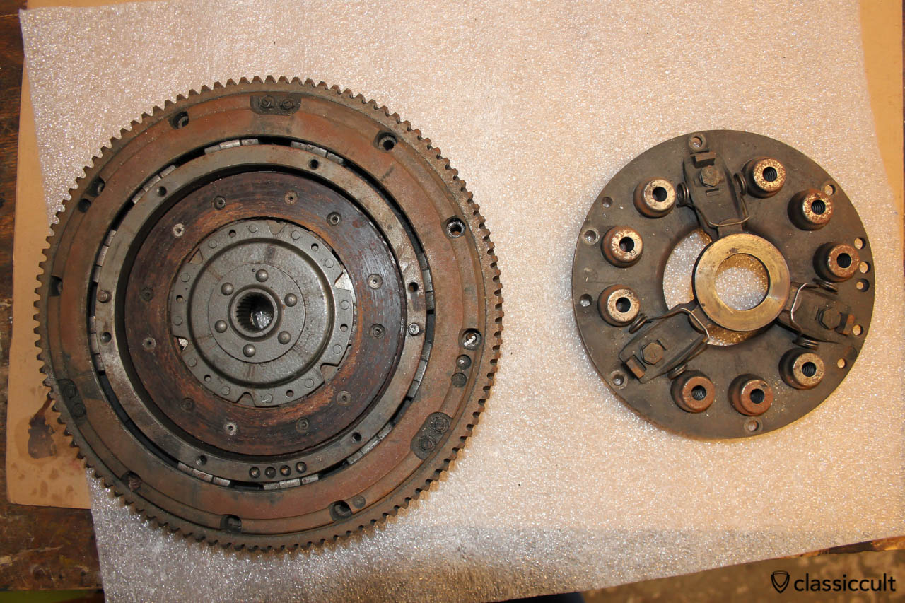 Automatic Clutch spare parts from a VW Beetle with low kilometer which was changed to manual transmission. I put this as is on my VW Beetle.