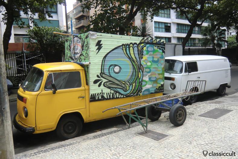 VW Single Cab and Panel Bay Bus, Ipanema, Rio, Brazil, May 22, 2013