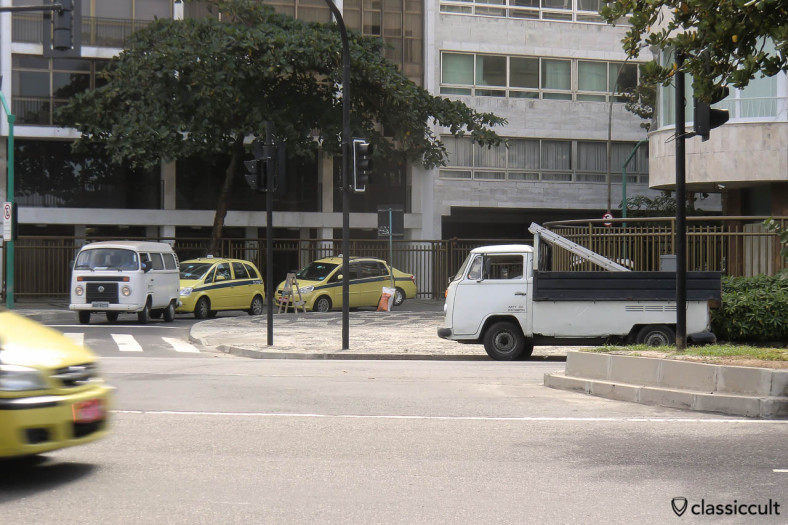 VW Single Cab and VW Kombi Bus, Ipanema, Rio, Brazil, May 22, 2013