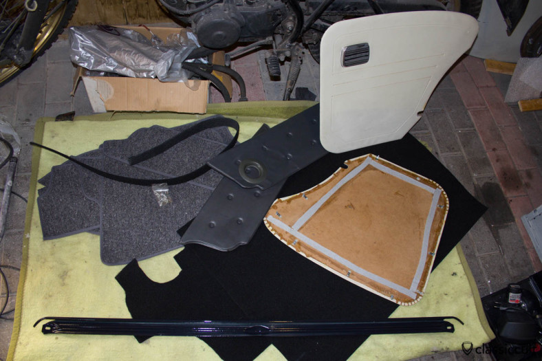 VW Standard Beetle interior parts.