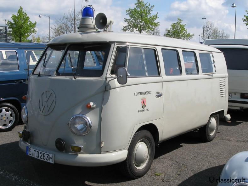 German VW T1 Split Bus from Katastrophenschutz Rheinland Pfalz