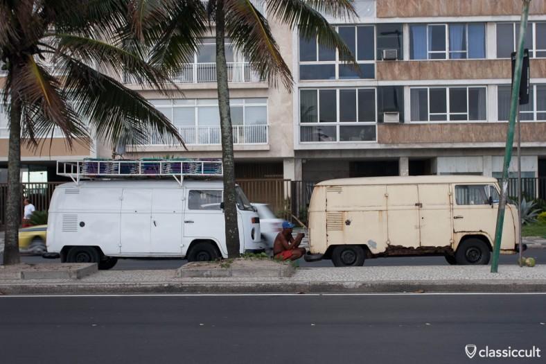 VW T1 Bus Volkswagen T2 Bus Copacabana Rio de Janeiro Brazil
