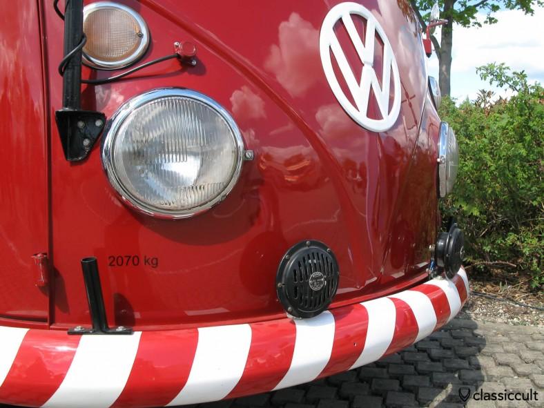 Bosch Fanfare on VW Fire Department ladder truck.