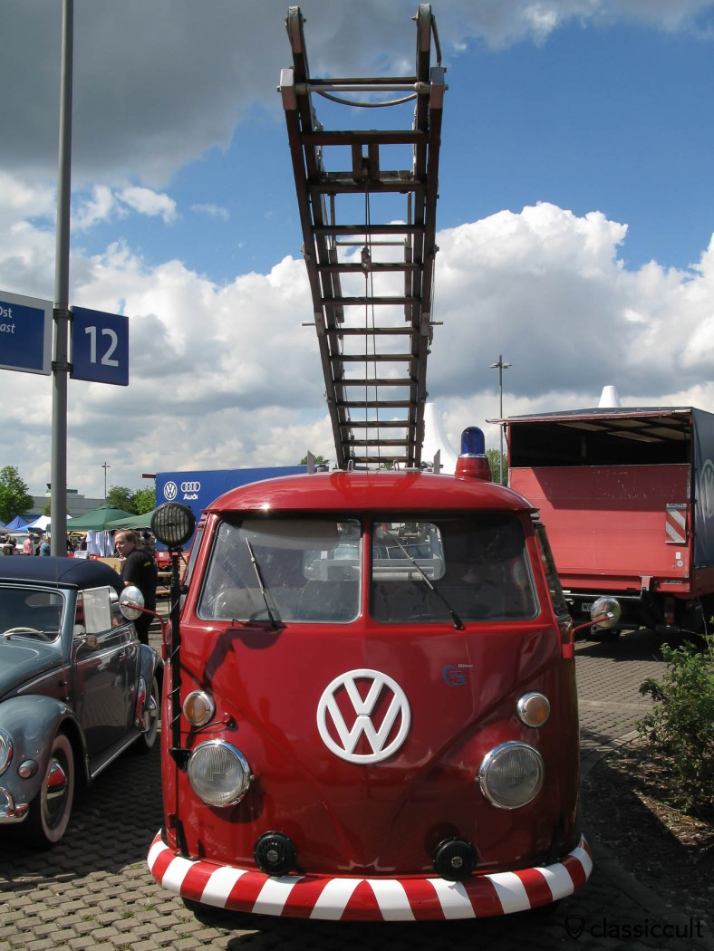 VW T1 Fire Department ladder truck. Awesome!
