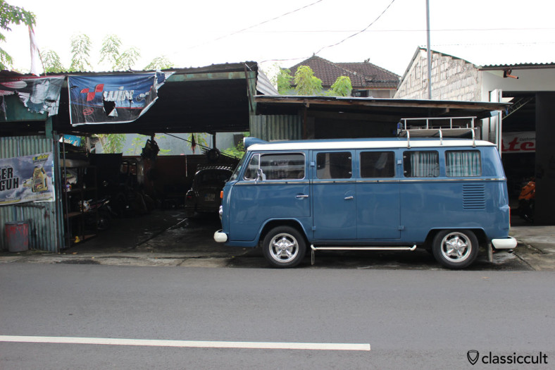 nice Brazilian VW Bay Bus side view, Bali, Indonesia, February 28, 2014