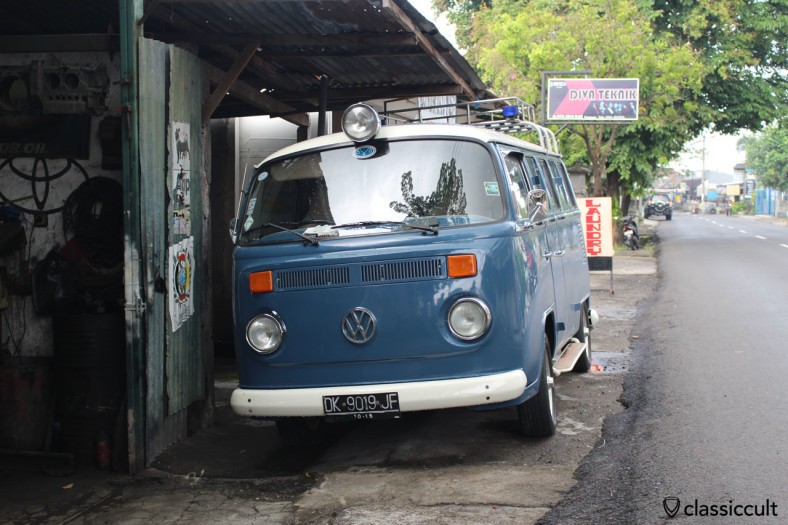 nice Brazilian VW Bay Bus front view, Bali, Indonesia, February 28, 2014