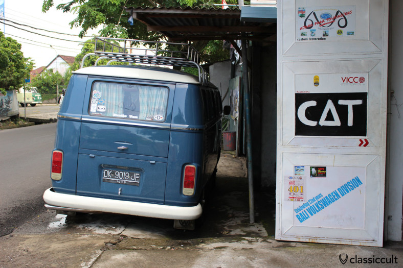 nice Brazilian VW Bay Bus rear view, Bali, Indonesia, February 28, 2014