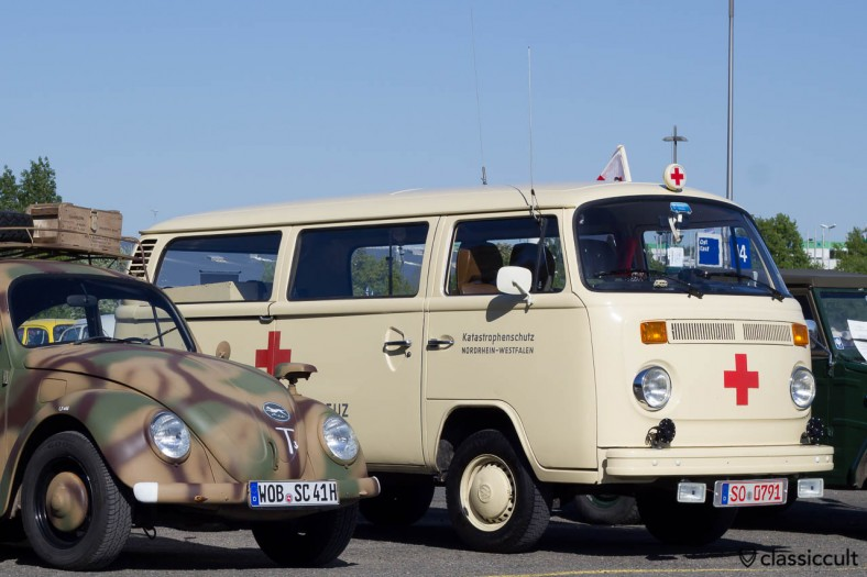 VW T2 Civil protection Nordrhein-Westfalen red cross Ambulance bus