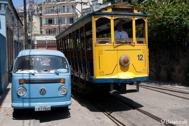 VW T2 Bus Santa Teresa Tram Rio de Janeiro Brazil