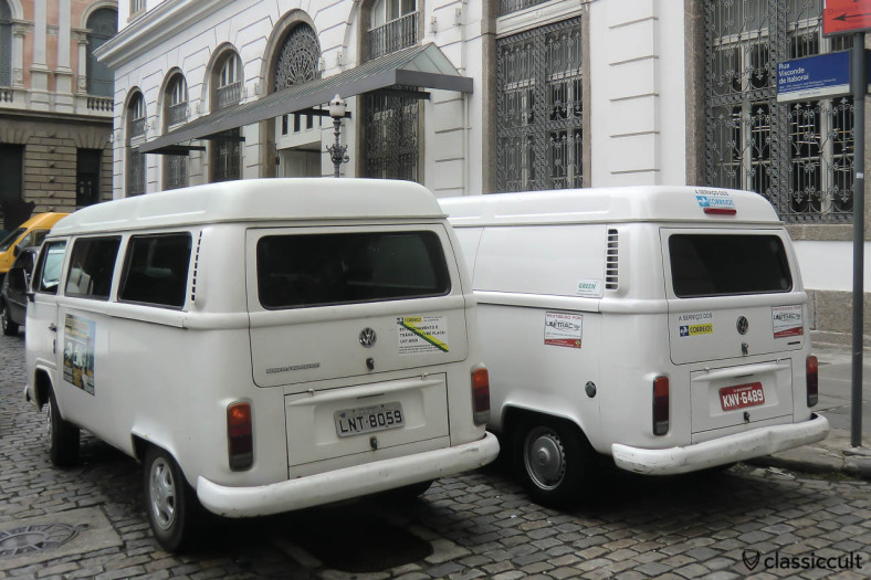 VW T2c Kombi Van and T2c Panel Bus, Centro, Rio, Brazil, May 23, 2013