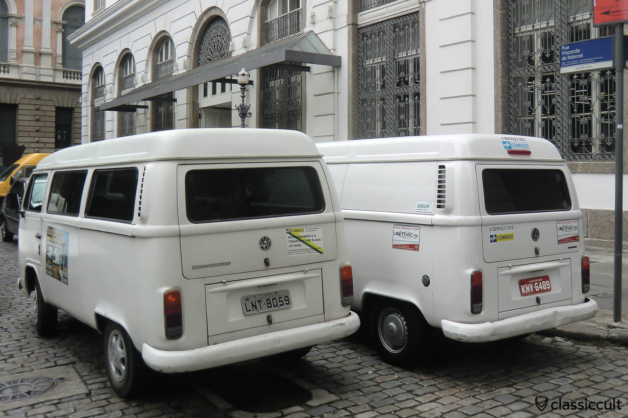 VW T2c Kombi Van and T2c Panel Bus, Centro, Rio, Brazil, May 23, 2013