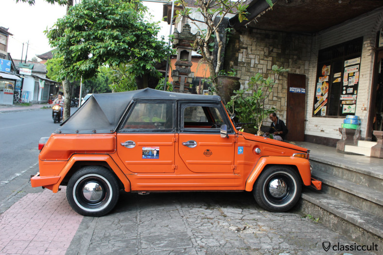VW 181 side view, Ubud, Bali, Indonesia, February 24, 2014