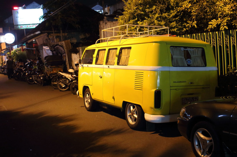 Brazilian Bay Volkswagen Camper Bus, Yogyakarta, Java, Indonesia, February 5, 2014