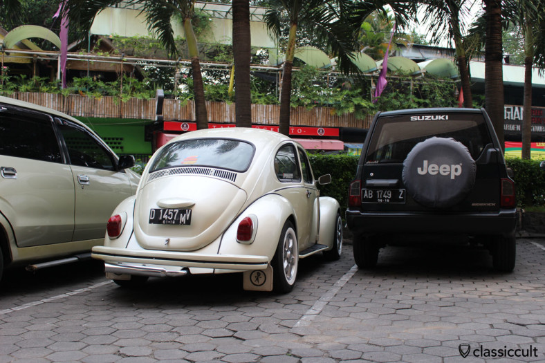 VW Beetle at Mc Donald car park, Yogyakarta, Java, Indonesia, February 6, 2014