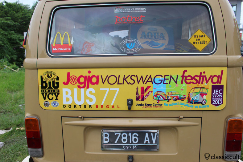 Jogja Volkswagen Festival advertisement at Kombi Bus, Yogyakarta, Indonesia