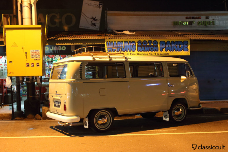 Superb VW T2a Kombi. The owner has nice guest house in Yogyakarta. Java, Indonesia, February 9, 2014