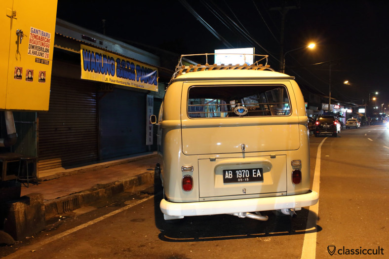 superb VW T2a Kombi, rear view, Yogyakarta, Java, Indonesia, February 9, 2014