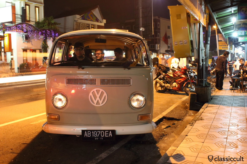 superb VW T2a Kombi and proud owner, Yogyakarta, Java, Indonesia, February 9, 2014