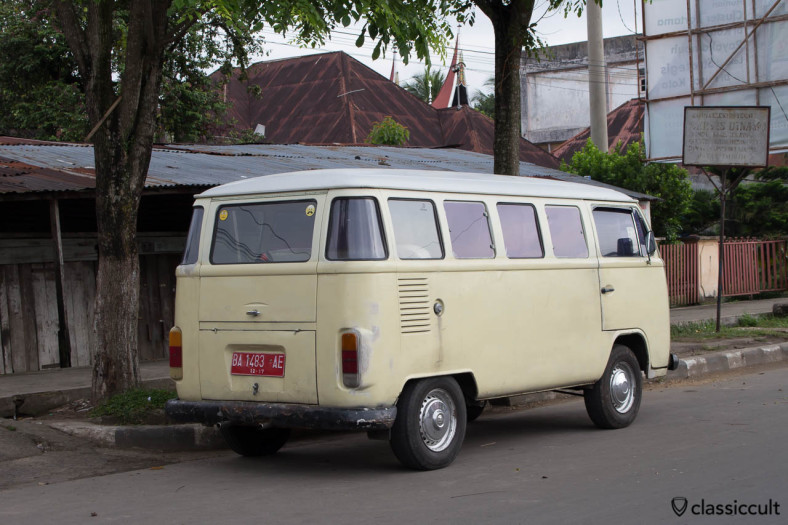 Nice white Brazilian VW Bay Bus in Payakumbuh Sumatra Indonesia.