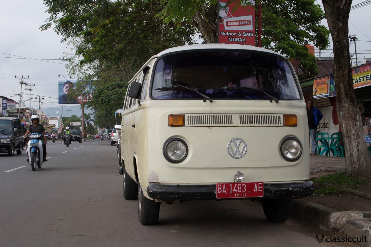 Nice white Brazilian VW Bay Bus in Payakumbuh Sumatra Indonesia.