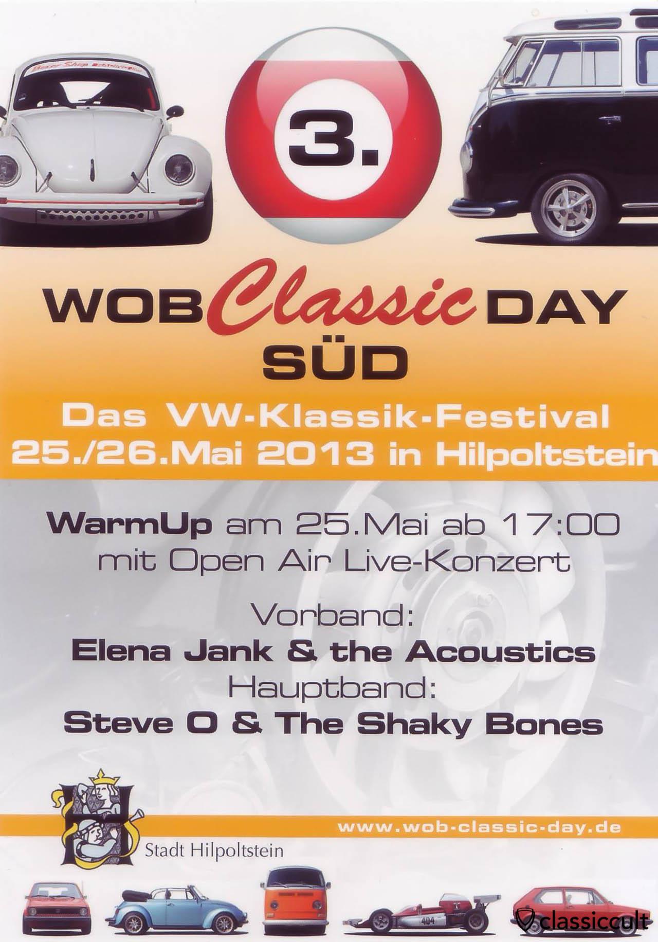 WOB Classic Day VW-Klassik-Festival 25.05.2013 - 26.05.2013 Flyer