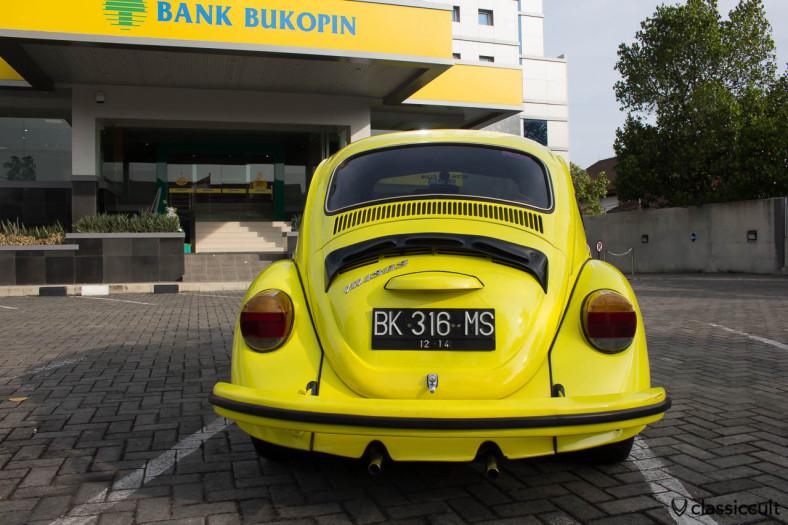 yellow VW Beetle 1303 Banda Aceh Indonesia