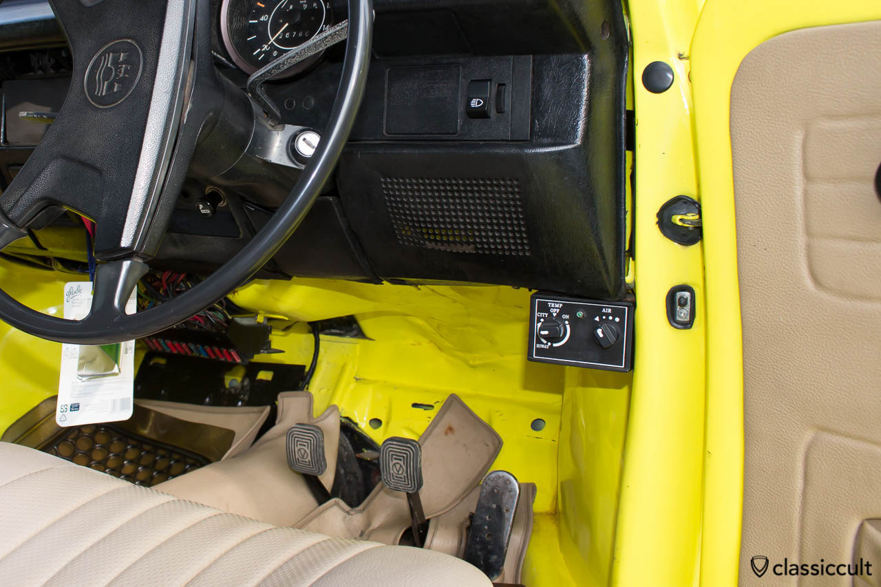 yellow VW Beetle 1303 Banda Aceh Indonesia, cool air-con