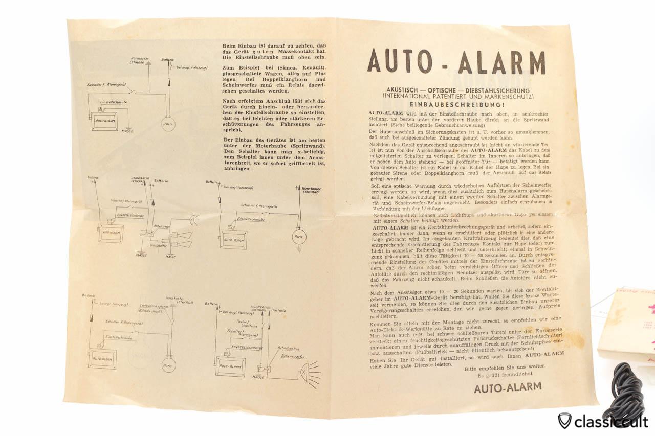 Anti-Theft Alarm System for VW Porsche NOS | classiccult