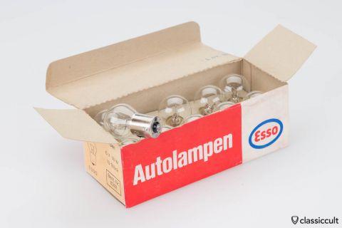 10x Esso Indicator Stop Brake Light 6V 18W Bulbs NOS