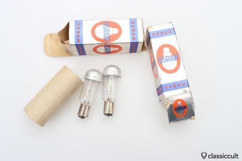 2x Osram 12V 100W BA15s 58.8105 bulb NOS