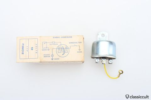 RÖCO 12V halogen light relay 12V NOS
