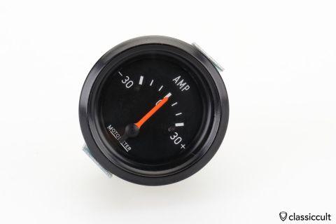 1970 MotoMeter 30 AMP gauge 40mm NOS