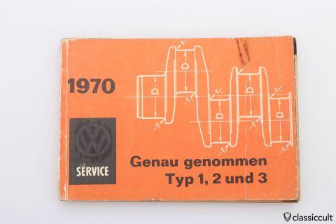 1970 VW Dienst Typ 1 2 3 Genau genommen
