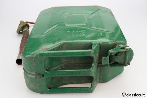 Vintage 20L gas fuel metal canister