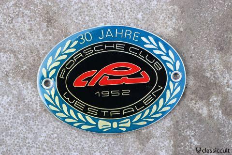 Porsche 356 911 Club Westfalen 1982 Badge