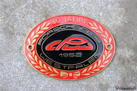 Porsche 356 911 Club Westfalen 1992 Badge