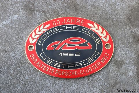Porsche 356 911 Club Westfalen 2002 Badge