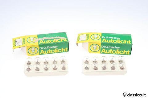 10x 6V 25W BA 15s Fischer light bulb NOS