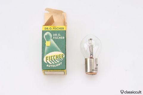 Dr. Fischer 6V 25W BA20d Bilux bulb NOS