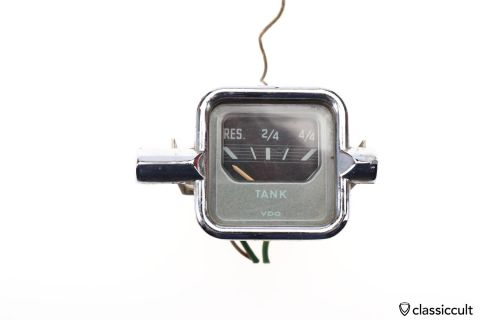 VW Beetle 6V VDO TANK electric fuel gauge