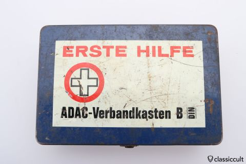 ADAC first aid tin box first aid 60ies