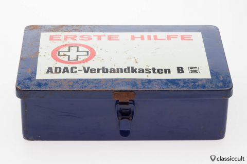 Vintage ADAC First Aid Box for VW and Porsche