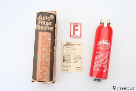 German Auto Permanent 1969 fire extinguisher NOS