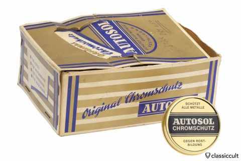 Vintage Autosol Chrome Polish in old tin box NOS