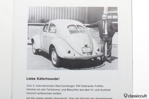 Bad Camberg VW Veteranten Treffen Programm Booklet