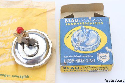 Vintage BLAU locking gas cap 60mm
