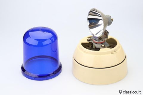 blue Hella KL (J) 80 flash light beacon